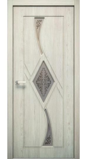 дверь экошпон кристалл 3 олива