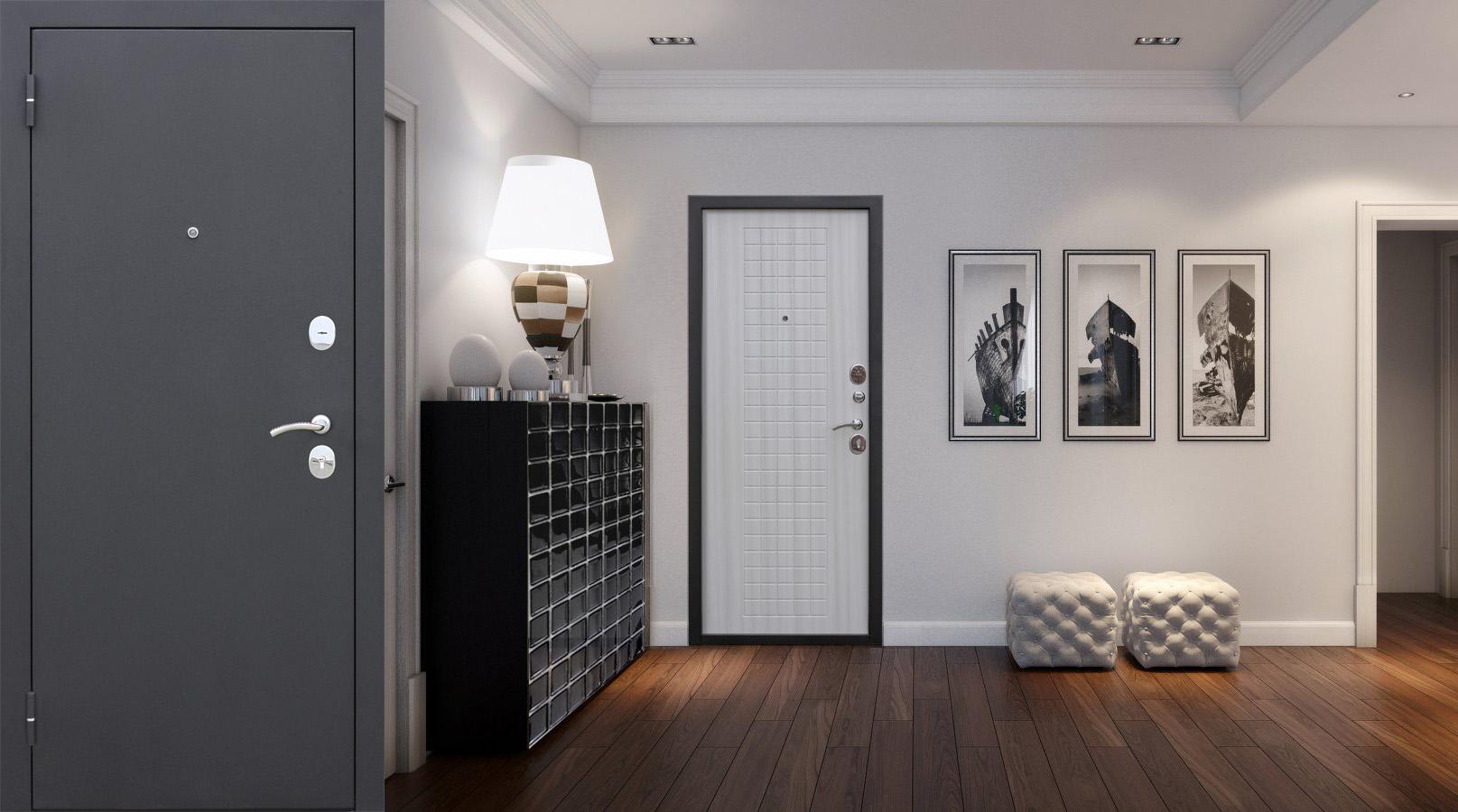 Фото квартир с белой входной дверью