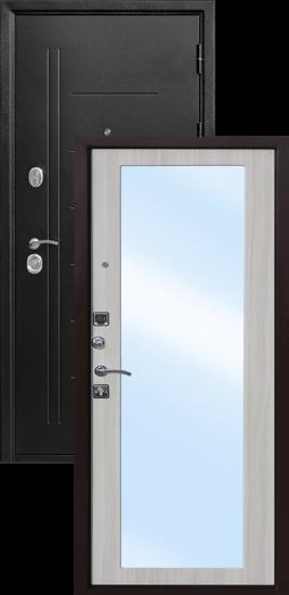 Троя Серебро MAXI Зеркало упить металлическую дверь где