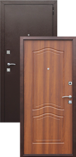 металлические двери с деревянной внутренней отделкой купить