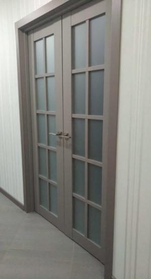 входная светлая межкомнатная дверь
